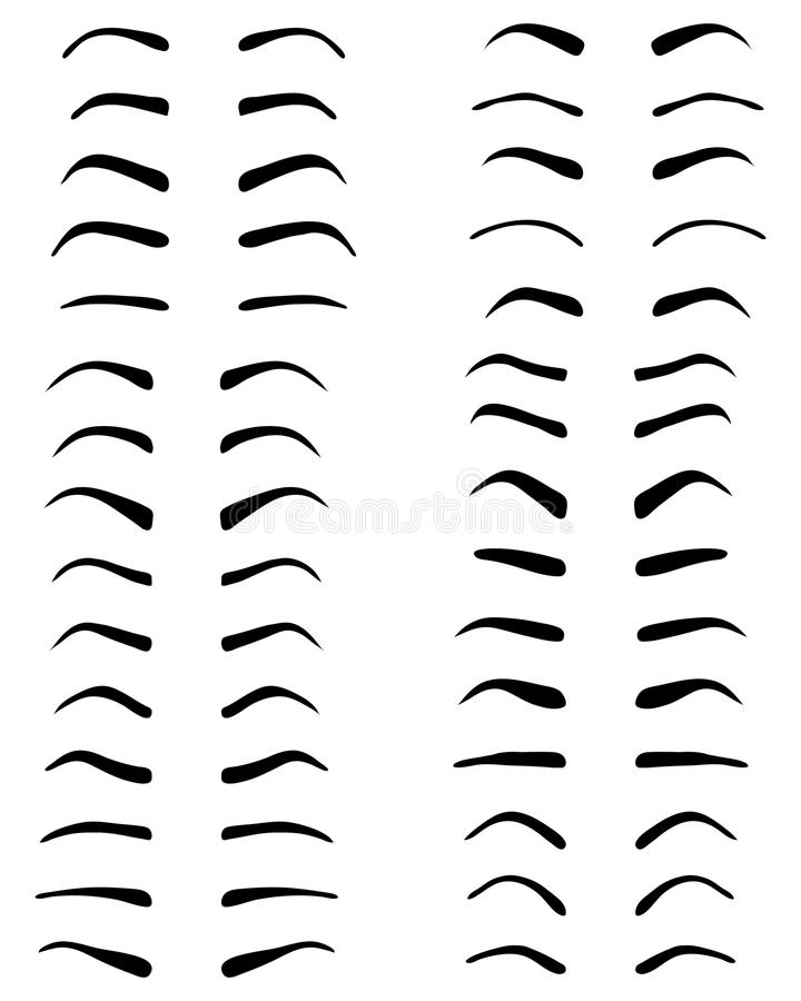 Sourcils, conception de tatouage illustration libre de droits