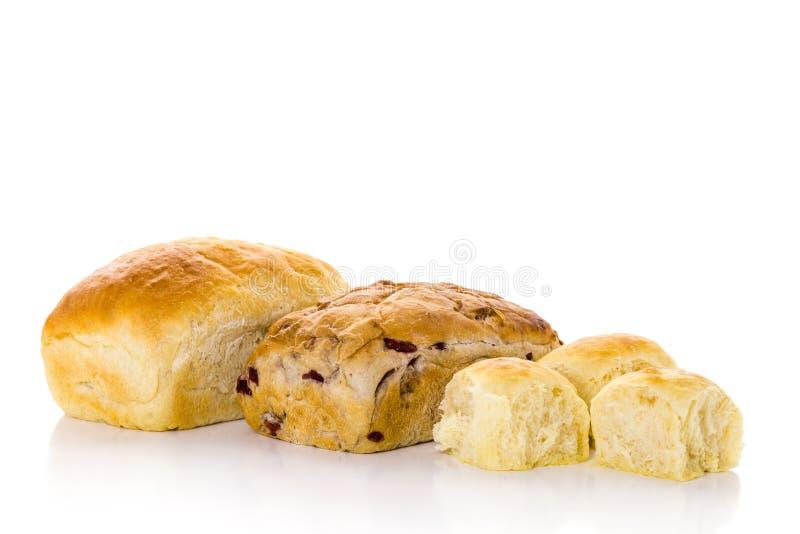 Sourdough bread. Freshly baked sourdough bread on a white background stock images