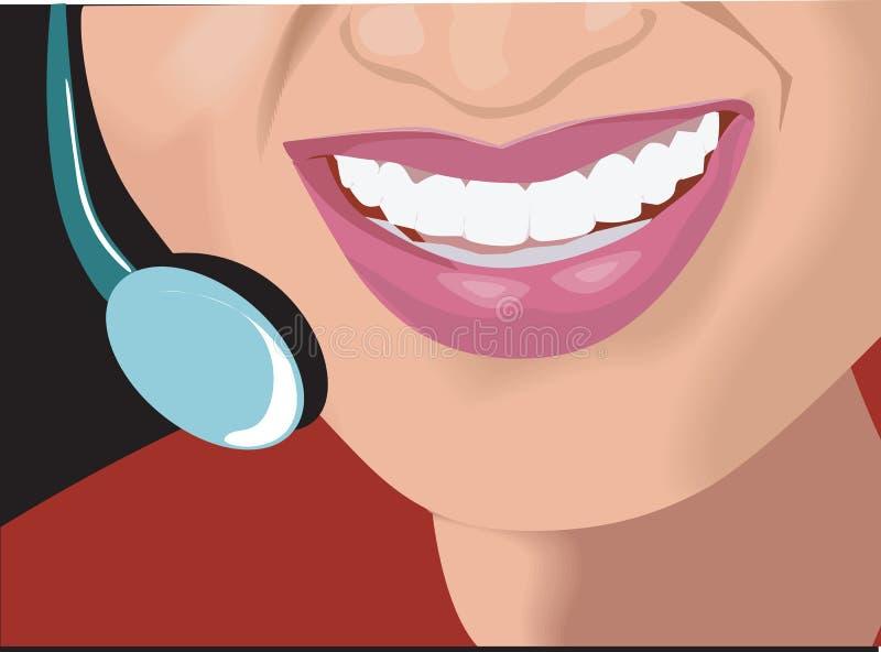 Sourire, illustration de vecteur