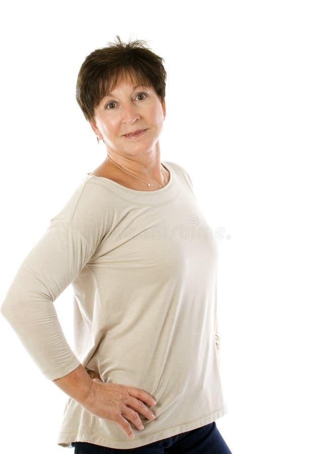 Sourire aîné heureux de femme photos stock