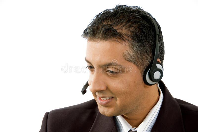 sourire adulte de service de fournisseur de verticale photographie stock