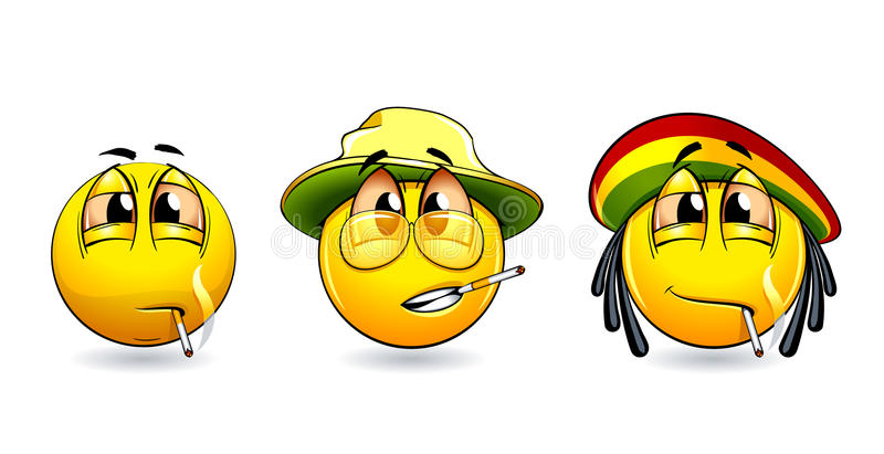 Sourire-billes illustration stock