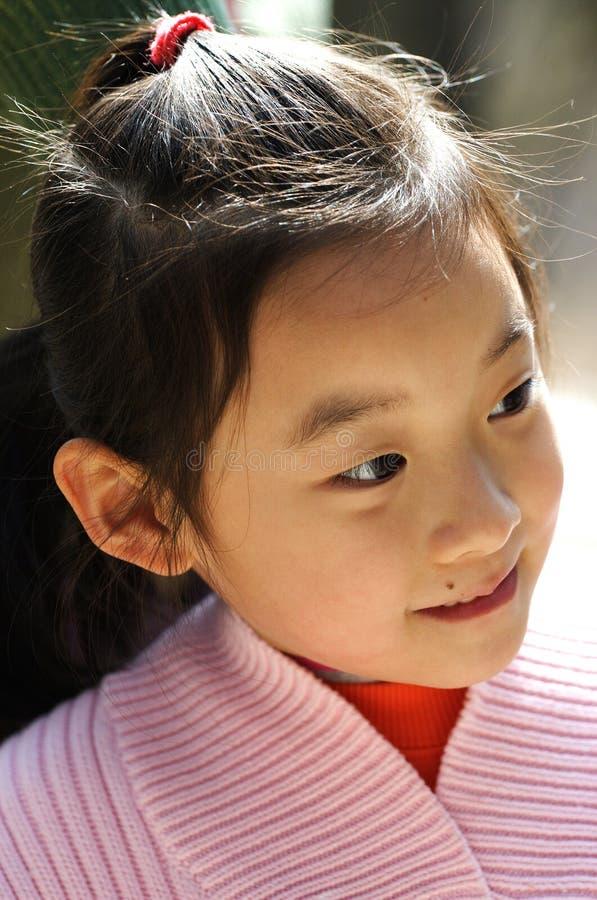 sourire chinois d'enfants image stock