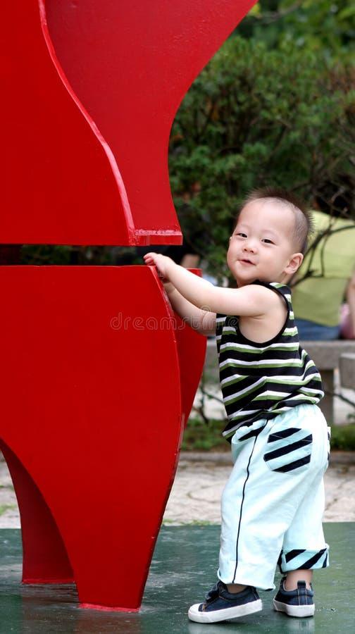 Sourire coréen de chéri image stock