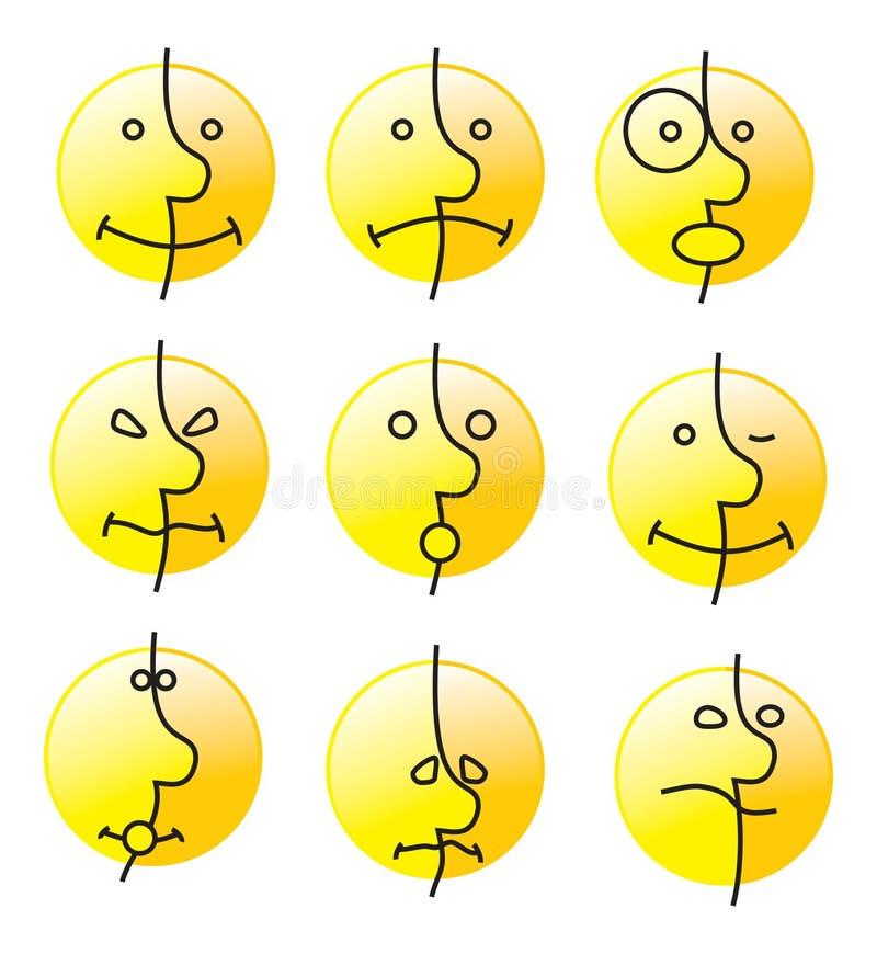 Sourire d'émotion illustration stock