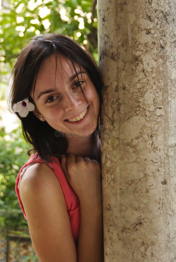 Sourire d'adolescente photo stock