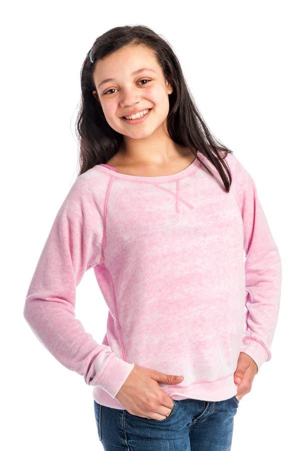 Sourire d'adolescente de métis. images libres de droits