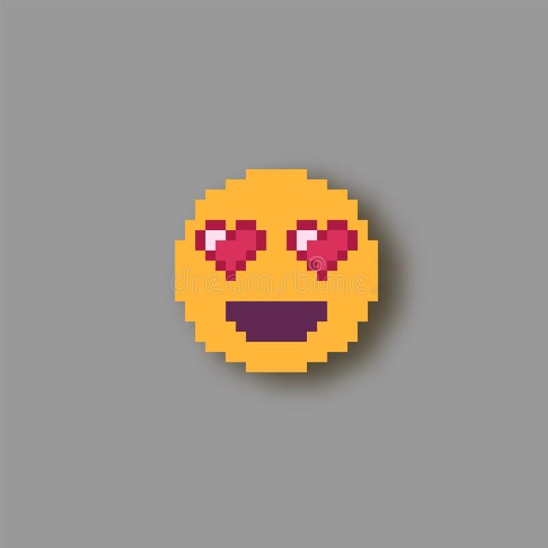 Sourire d'art de pixel illustration libre de droits