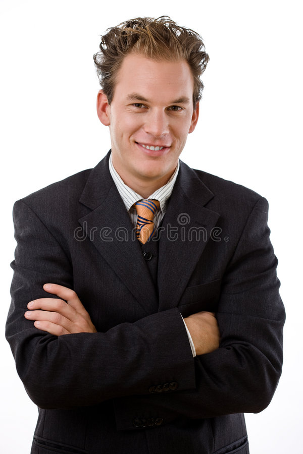 sourire d'homme d'affaires réussi image stock
