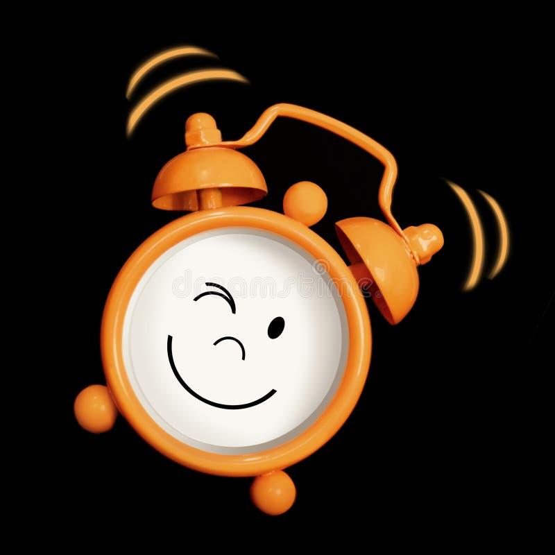 Sourire d'horloge d'alarme photographie stock libre de droits