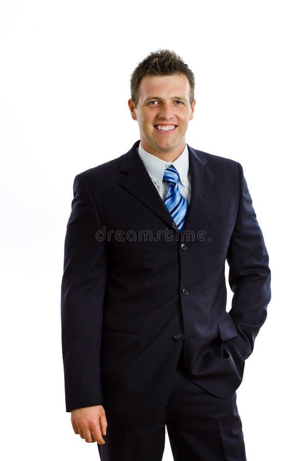 sourire d'isolement par homme d'affaires images libres de droits