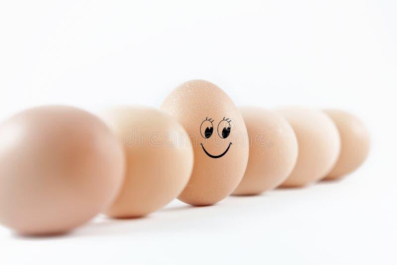 sourire d'oeufs image stock