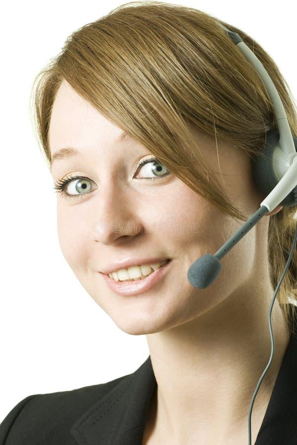 sourire d'opérateur d'appel photographie stock libre de droits