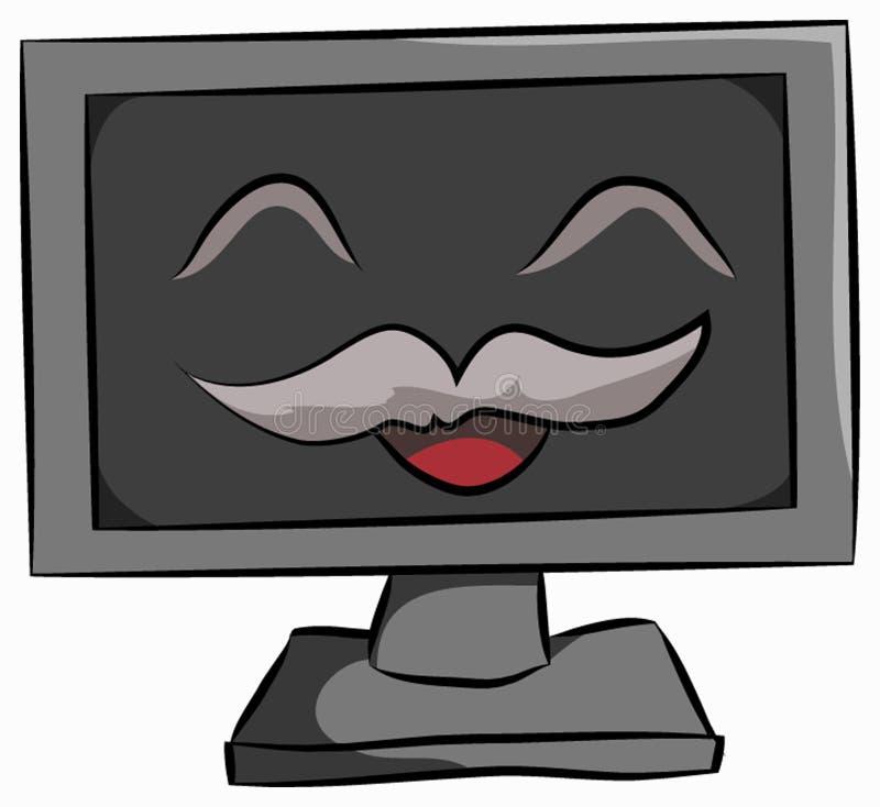 Sourire d'ordinateur photos stock