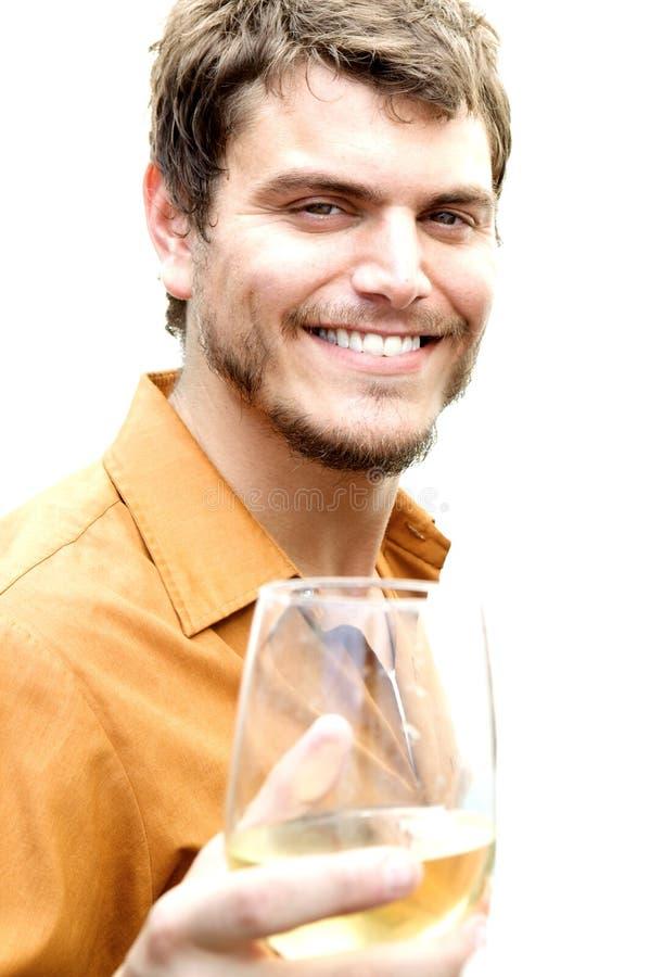 sourire d'un air affecté sain d'homme image stock