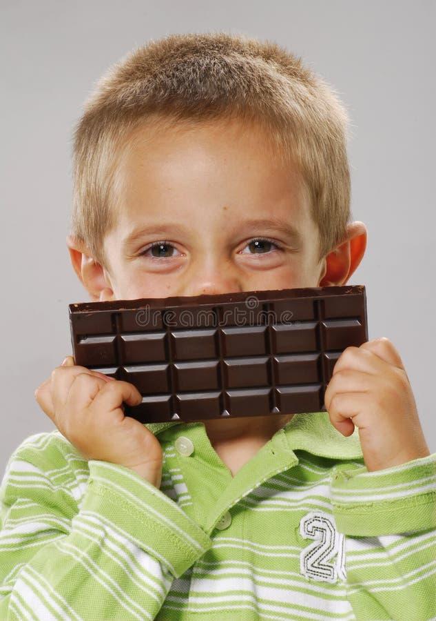 Sourire de chocolat. photo libre de droits