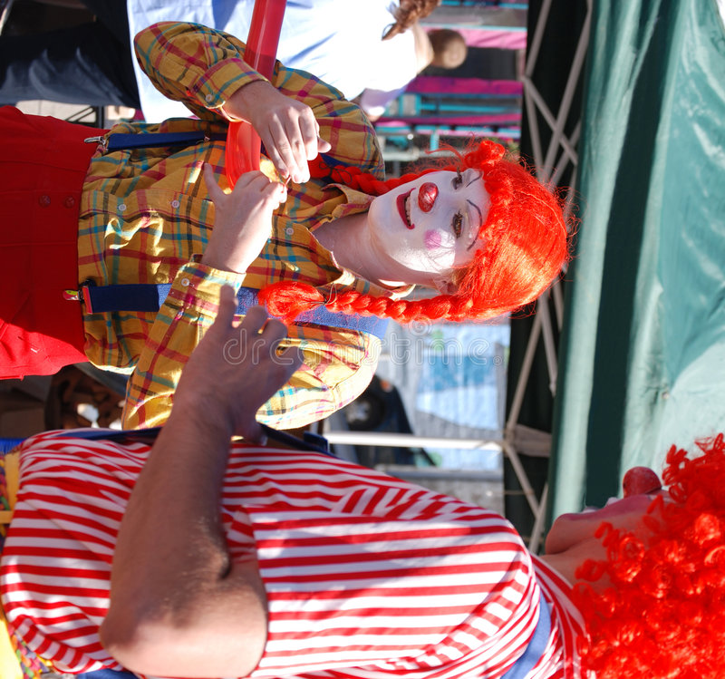 Sourire de clowns images libres de droits