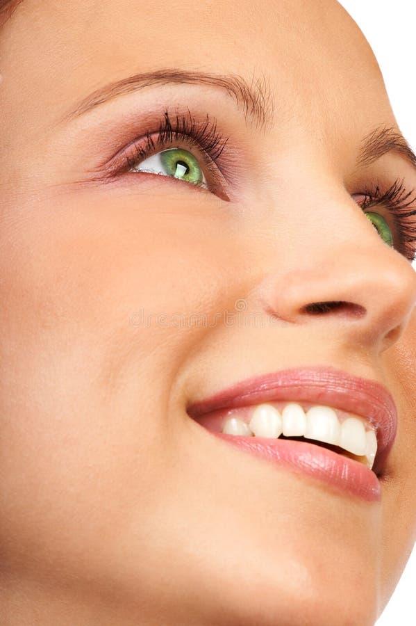 Sourire de femme photo stock