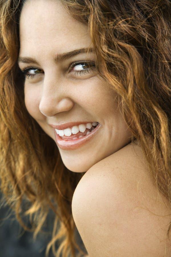 Sourire de femme. image libre de droits