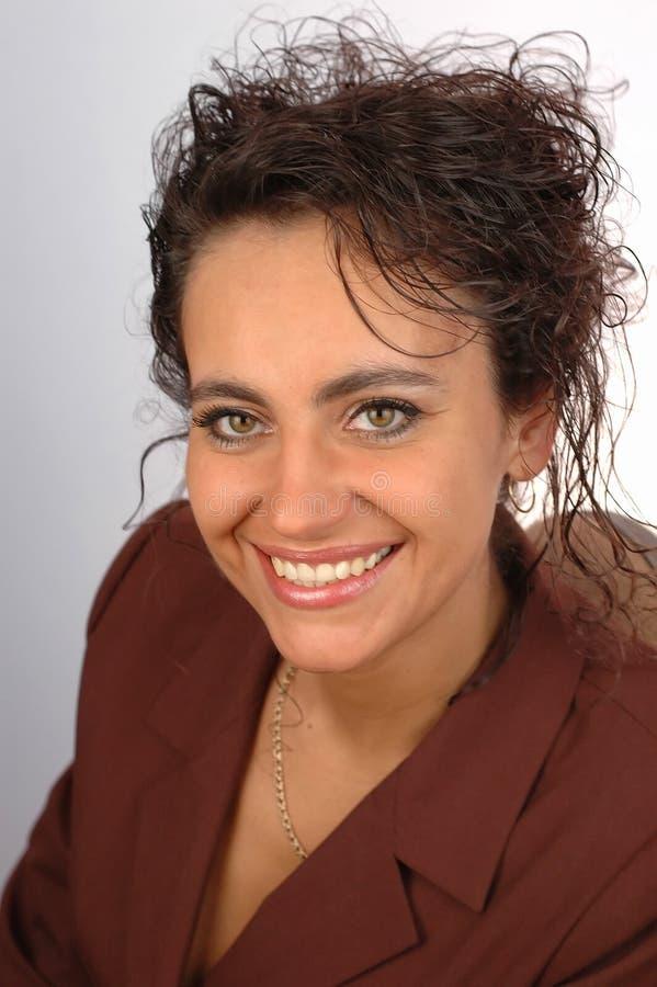 Sourire de femme d'affaires. image stock