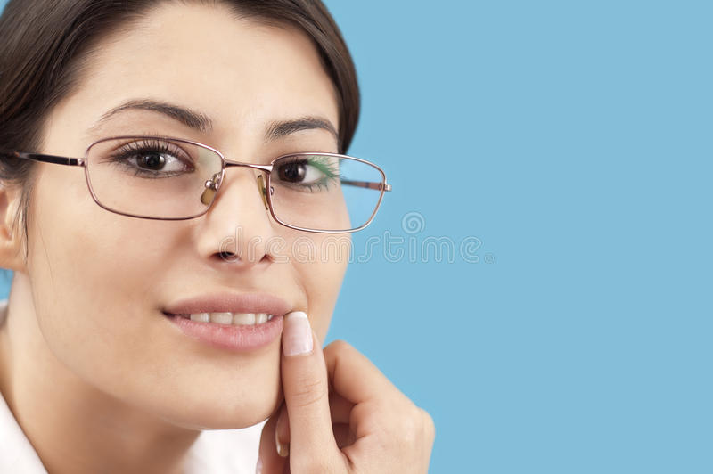 Sourire de femme d'affaires image libre de droits