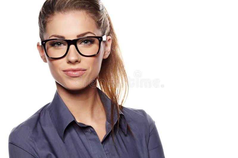 Sourire de femme d'affaires images stock