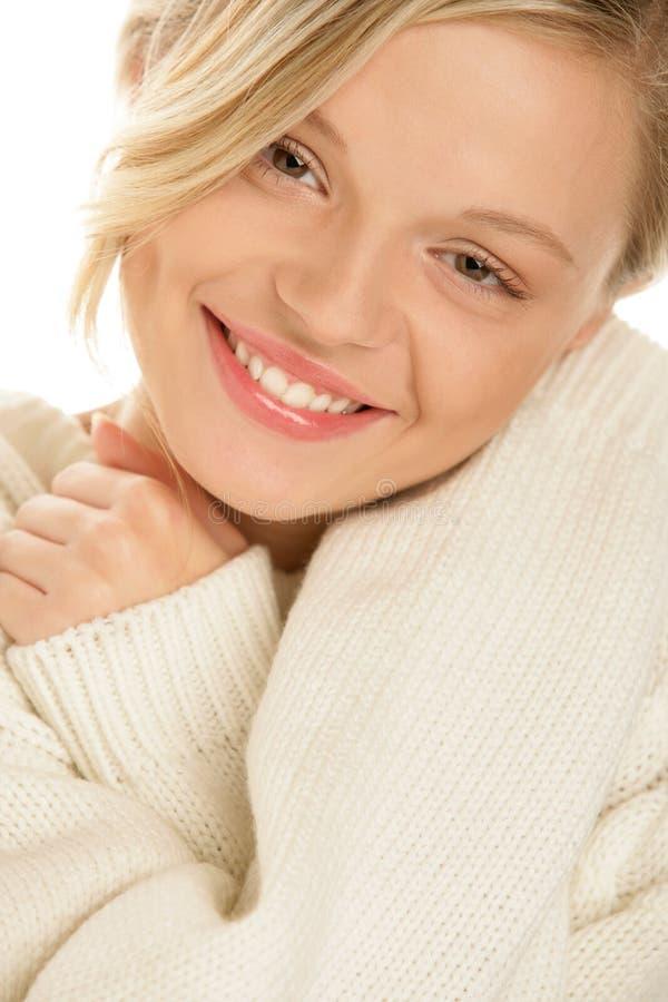 Sourire de femme de beauté images libres de droits