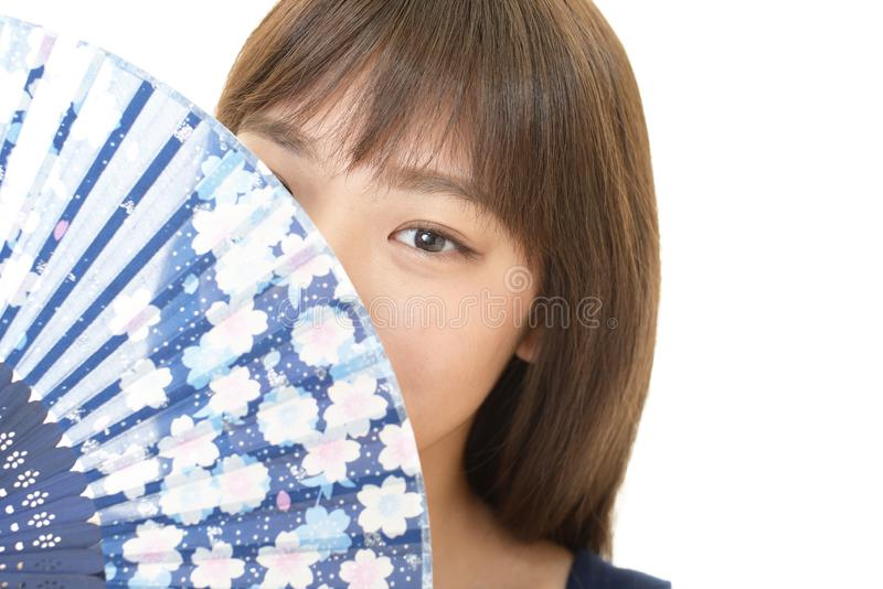 Sourire de femme heureux photo libre de droits