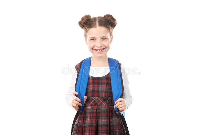 Sourire de fille d'école photo stock