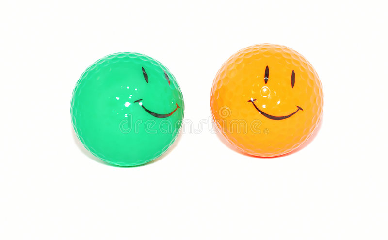 sourire de golf de visage de billes photo stock