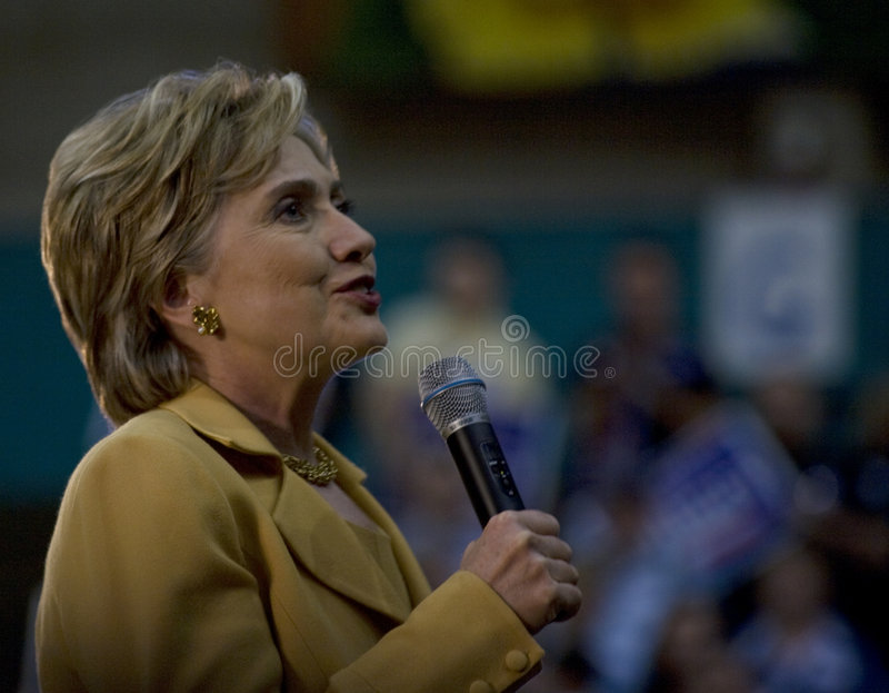 Sourire de Hillary Clinton images libres de droits