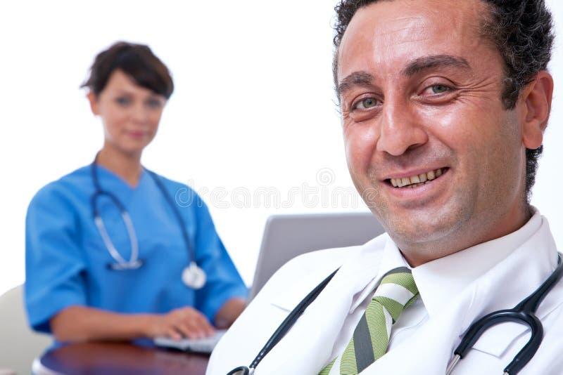 Sourire de médecins images libres de droits