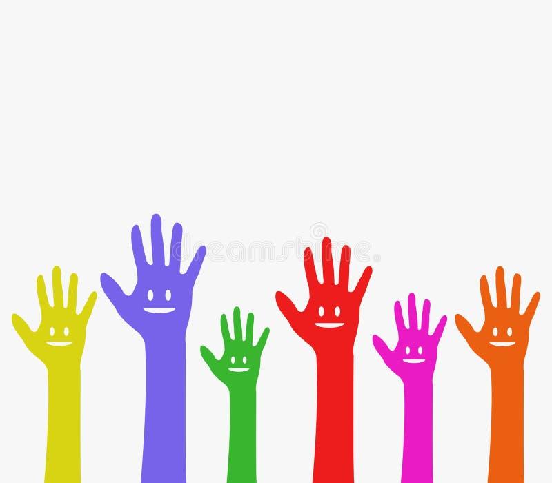 Sourire de mains illustration libre de droits