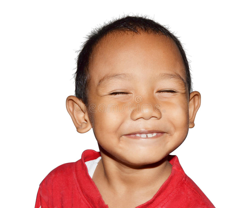 Sourire de petit garçon photos stock