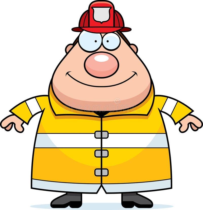 Sourire de pompier de bande dessinée illustration libre de droits