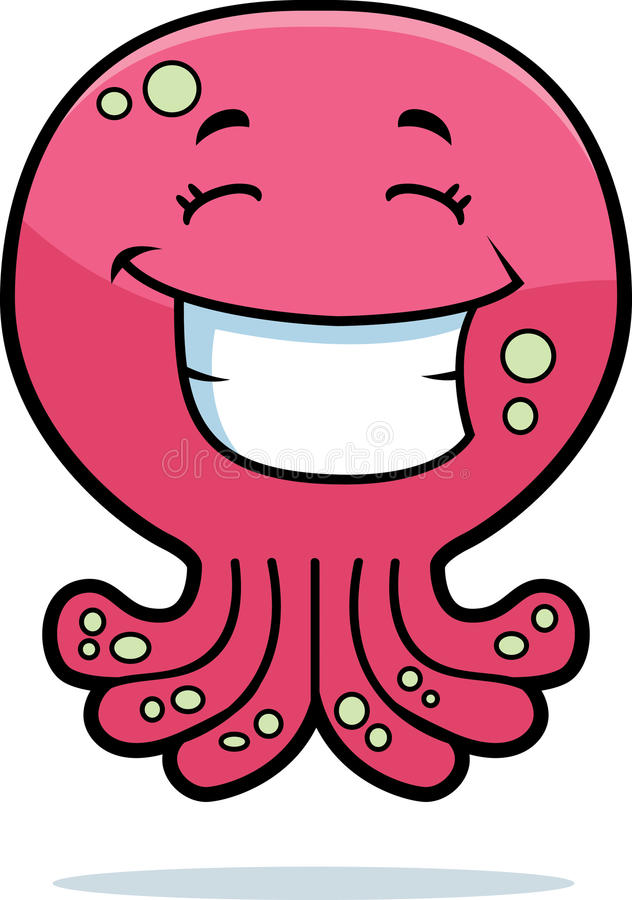 Sourire de poulpe illustration stock