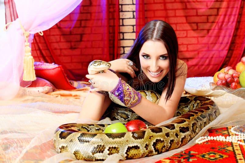 Sourire de python photo libre de droits
