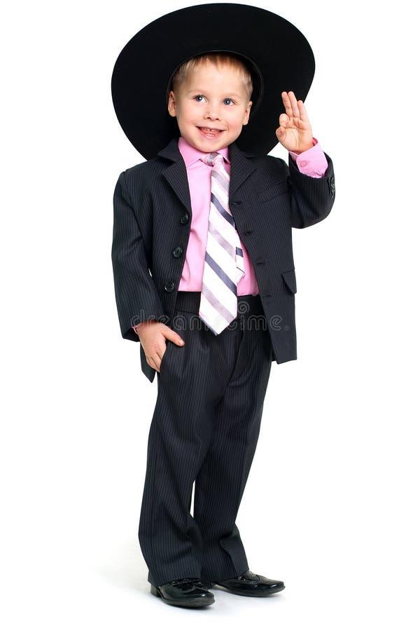 sourire de salutation de garçon photographie stock libre de droits