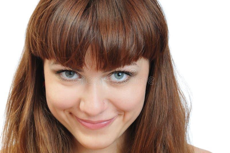 sourire de verticale de fille proche joli photographie stock