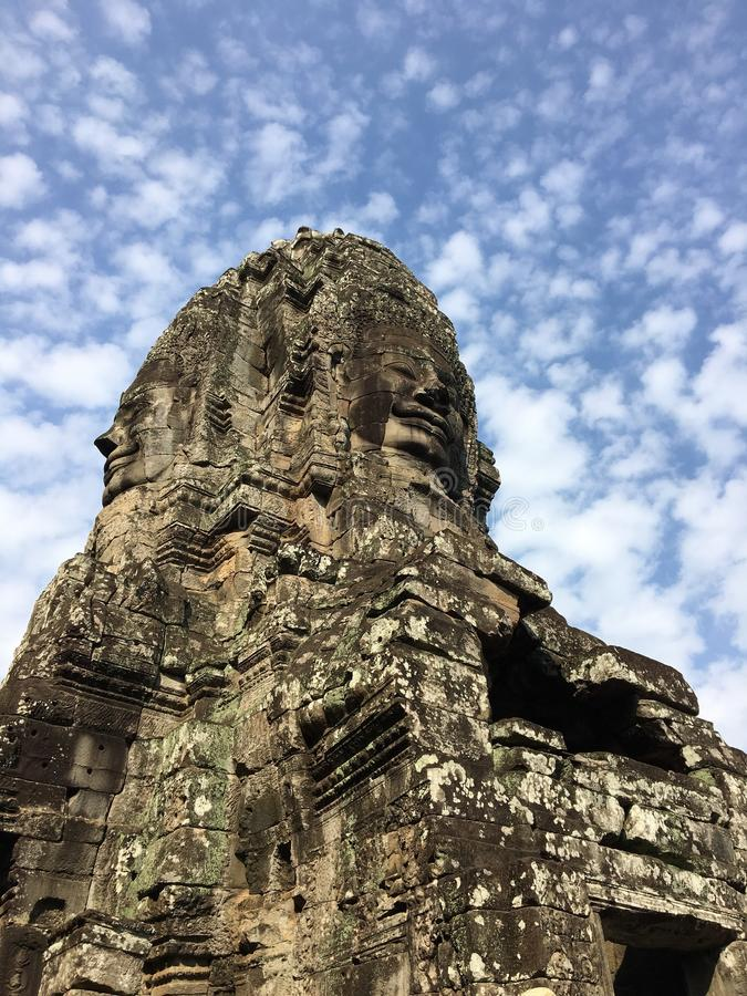 Sourire du Cambodge Angkor photos stock