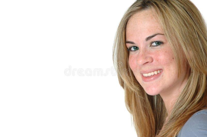 Sourire heureux de femme photographie stock libre de droits