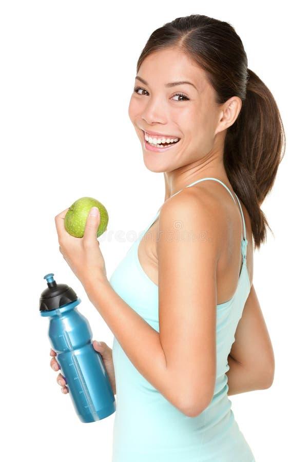 Sourire heureux de femme de forme physique photo stock