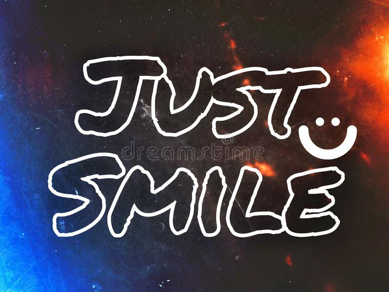 Sourire heureux de papier peint juste avec l'icône du sourire illustration de vecteur
