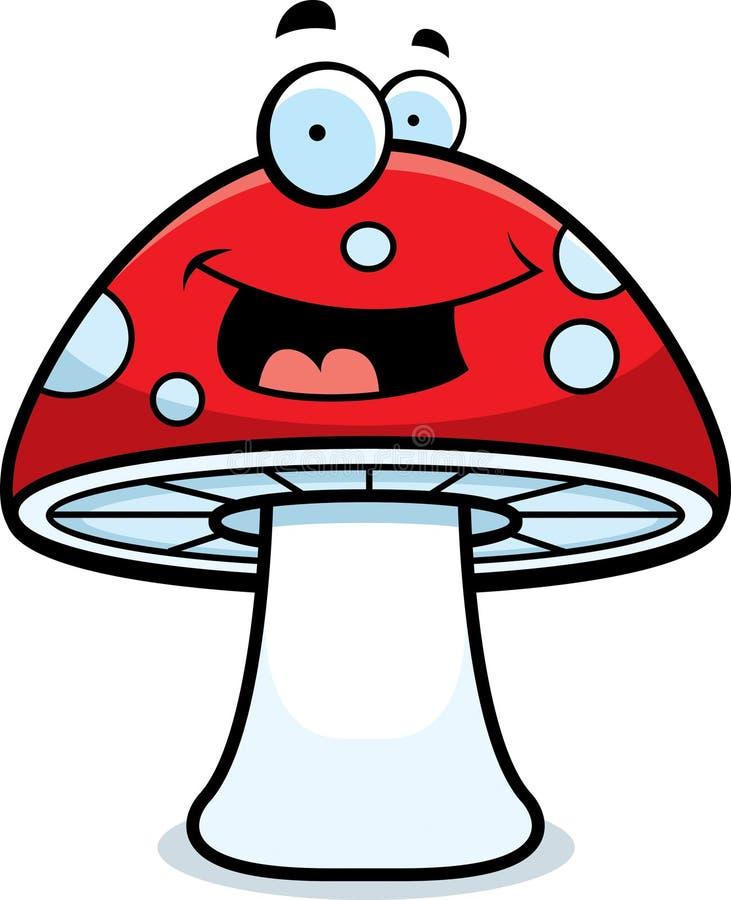Sourire magique de champignon de couche illustration stock