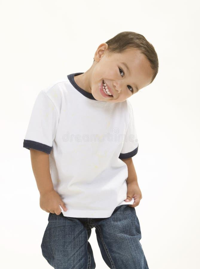 Sourire mignon de garçon photographie stock