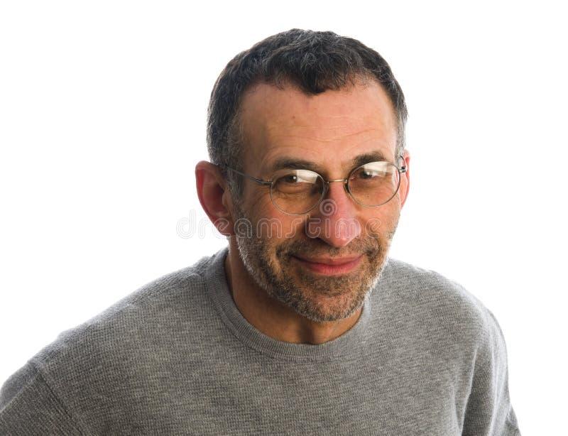 sourire moyen d'homme d'âge images libres de droits