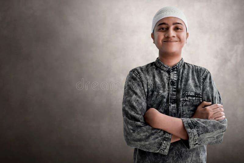 Sourire musulman asiatique religieux d'homme photos libres de droits