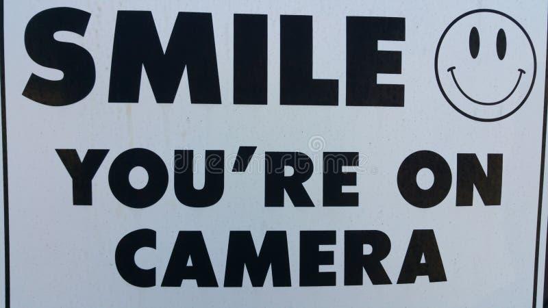 Sourire vous êtes sur l'appareil-photo photo stock