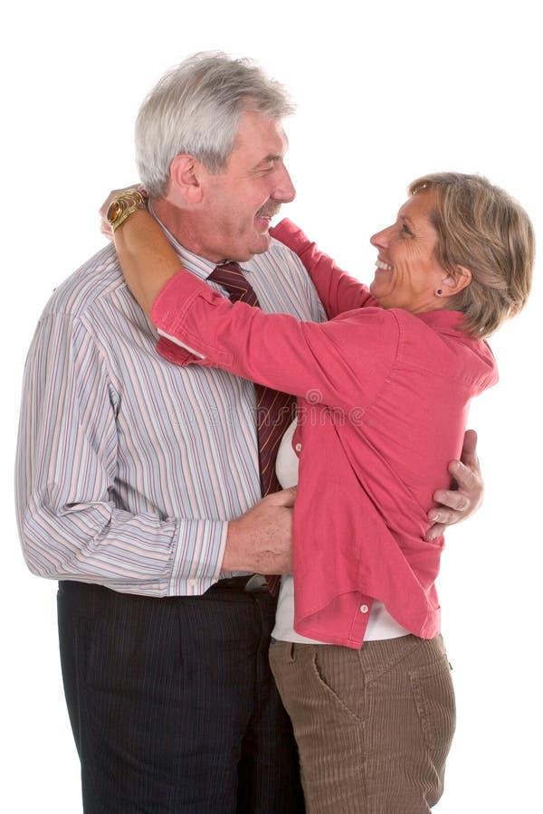 Sourires adultes de couples photographie stock