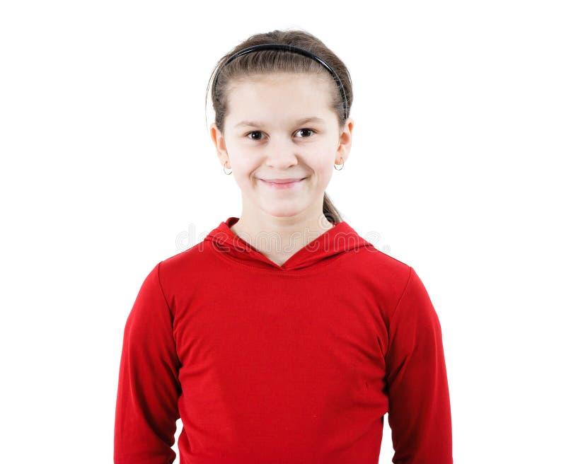 Sourires de l'adolescence mignons de fille image stock